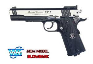 C1911 CO2 COMBAT SPORT SCARRELLANTE FULL METAL BICOLOR