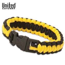 UNITED CUTLERY PARACORD SURVIVAL BRACELET BLACK-YELLOW