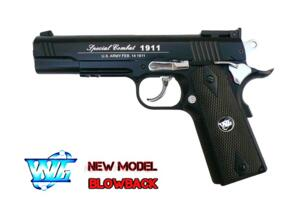 C1911 CO2 COMBAT SPORT SCARRELLANTE FULL METAL BLACK