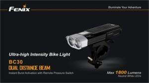 FENIX BC30 BIKE LIGHT 1800 LUMEN