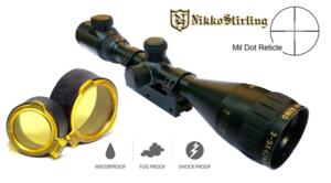 NIKKO STIRLING GOLD CROWN AIR 3-9X42 AO MIL DOT ILLUMINATED