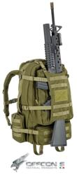 DEFCON 5 ZAINO MILITARE EAGLE BACKPACK CON PORTAFUCILE GREEN MILITARY