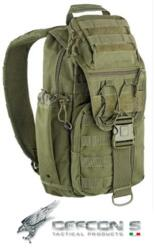 DEFCON 5 ZAINO MILITARE TACTICAL SINGLE SHOULDER BAG GREEN MILITARY