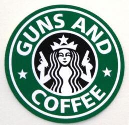PATCH - GUNS AND COFFEE - VERDE