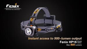 FENIX TORCIA FRONTALE HP15 ULTIMATE EDITION 900 lumens