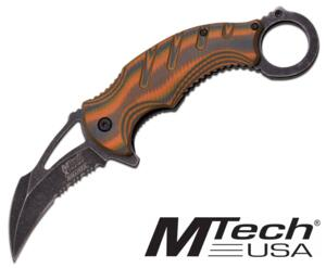 M-TECH KARAMBIT STONE WASH G10 CAMO MX-A833TN