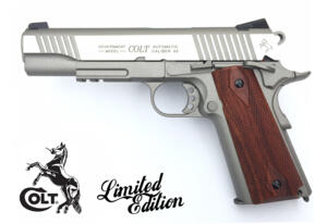 COLT GOVERNAMENT 1911 RAIL STAINLESS C02 FULL METAL