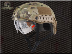 EMERSON ELMETTO FAST BJ type CON VISIERA ABBATTIBILE MULTICAM