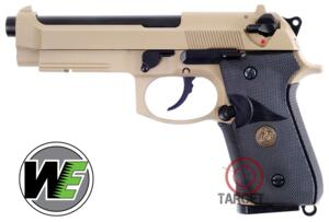 WE M9A1 GAS TAN FULL METAL SCARRELLANTE