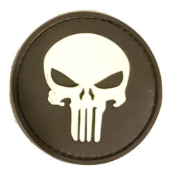PATCH - SKULL NAVY SEAL - GOMMATA GLOW-IN-THE-DARK