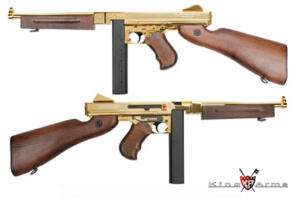 KING ARMS THOMPSON 1928 M1A1 GOLD FULL METAL