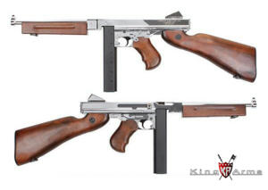 KING ARMS THOMPSON 1928 M1A1 SILVER FULL METAL