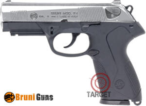 BRUNI PISTOLA A SALVE P-4 cal. 9 mm NICKEL