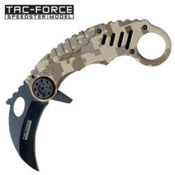 TAC-FORCE USA KARAMBIT DIGITAL CAMO TF-620DM