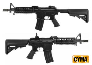 CYMA M4A1 RAS BLACK FULL SET SHORT
