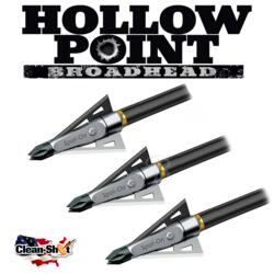 CLEAN-SHOT PUNTE DA CACCIA HOLLOW POINT 100/125 GR 3PZ