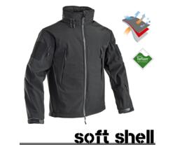 JACKET SOFT SHELL W-W-BLOCK NERO DUPONT TEFLON