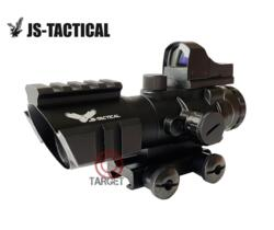 JS-TACTICAL ACOG 4X32 COMBO MINI RED DOT