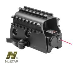 NCSTAR® TRI-RAIL ARMORED GREEN DOT CON LASER INTEGRATO E ATTACCO QR