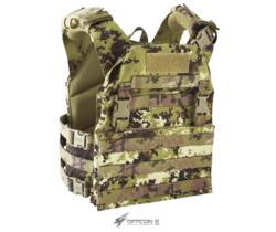 DEFCON 5 THUNDER VEST CARRIER CORDURA 900D VEGETATO ITALIANO