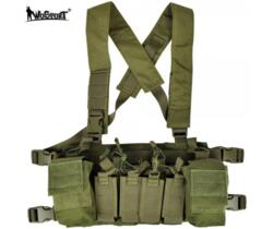 WOSPORT LIGHT CHEST RIG MULTIFUNZIONE VERDE
