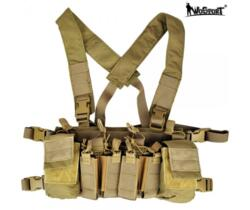 WOSPORT LIGHT CHEST RIG MULTIFUNZIONE TAN