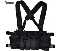 WOSPORT LIGHT CHEST RIG MULTIFUNZIONE NERO