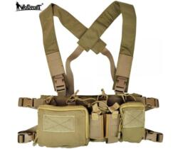 WOSPORT TACTICAL VEST MULTIFUNZIONE TAN