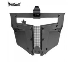 WOSPORT MASCHERA PER ELMETTO IRON WARRIOR FULL FACE NERO