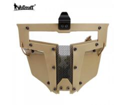 WOSPORT MASCHERA PER ELMETTO IRON WARRIOR FULL FACE TAN