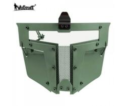 WOSPORT MASCHERA PER ELMETTO IRON WARRIOR FULL FACE VERDE