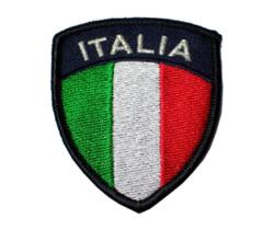PATCH - SCUDO ITALIA RICAMATO BLACK