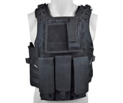ROYAL TACTICAL VEST PROFESSIONALE CON 6 TASCHE NERO
