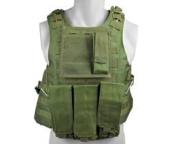 ROYAL TACTICAL VEST PROFESSIONALE CON 6 TASCHE VERDE
