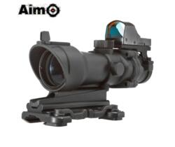 AIM-O OTTICA 4X32 ACOG CON MINI RED DOT NERA