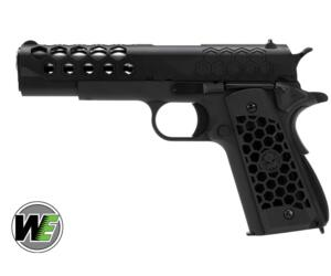 WE 1911 HEX CUT GEN2 NERA FULL METAL SCARRELLANTE
