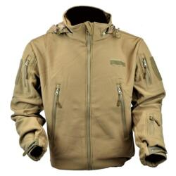 JS-TACTICAL GIACCA SOFT SHELL SHARK SKIN COYOTE BROWN